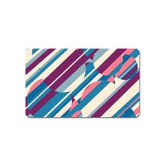 Blue and pink pattern Magnet (Name Card)