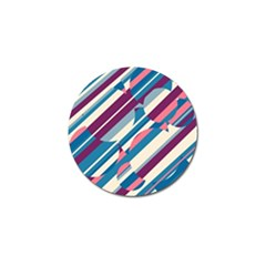 Blue and pink pattern Golf Ball Marker