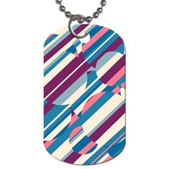 Blue and pink pattern Dog Tag (Two Sides)