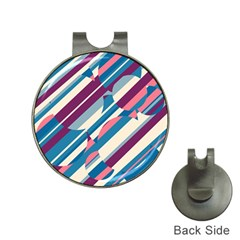 Blue and pink pattern Hat Clips with Golf Markers
