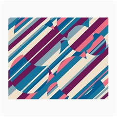 Blue And Pink Pattern Small Glasses Cloth