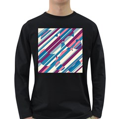 Blue and pink pattern Long Sleeve Dark T-Shirts