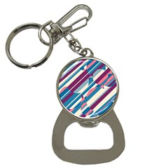 Blue and pink pattern Bottle Opener Key Chains