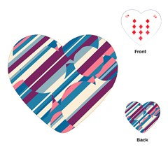 Blue and pink pattern Playing Cards (Heart)