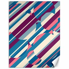 Blue and pink pattern Canvas 12  x 16