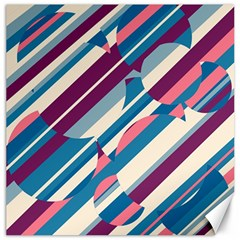 Blue and pink pattern Canvas 20  x 20