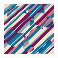 Blue and pink pattern Medium Glasses Cloth (2-Side)