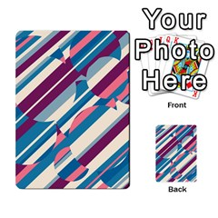 Blue and pink pattern Multi-purpose Cards (Rectangle)