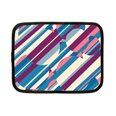 Blue and pink pattern Netbook Case (Small)