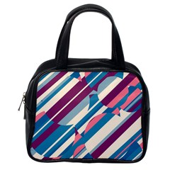 Blue and pink pattern Classic Handbags (One Side)