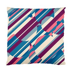 Blue and pink pattern Standard Cushion Case (Two Sides)