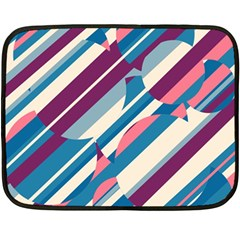 Blue and pink pattern Double Sided Fleece Blanket (Mini)