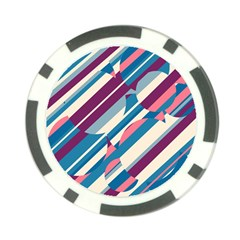 Blue and pink pattern Poker Chip Card Guards (10 pack)