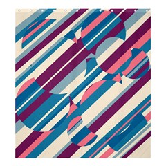 Blue and pink pattern Shower Curtain 66  x 72  (Large)