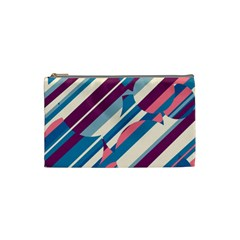 Blue and pink pattern Cosmetic Bag (Small)