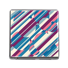 Blue and pink pattern Memory Card Reader (Square)