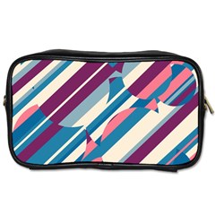 Blue and pink pattern Toiletries Bags