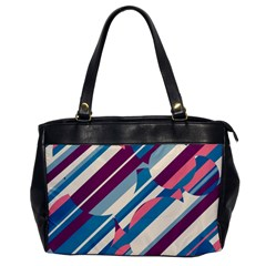 Blue and pink pattern Office Handbags