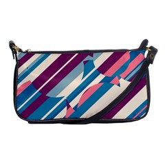 Blue and pink pattern Shoulder Clutch Bags