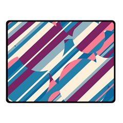 Blue and pink pattern Fleece Blanket (Small)