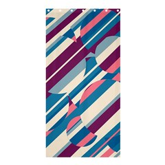 Blue and pink pattern Shower Curtain 36  x 72  (Stall)