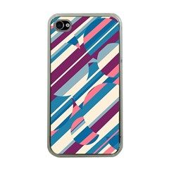 Blue and pink pattern Apple iPhone 4 Case (Clear)