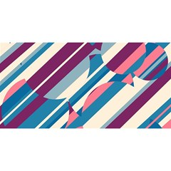 Blue and pink pattern YOU ARE INVITED 3D Greeting Card (8x4)