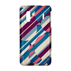 Blue and pink pattern HTC Evo Design 4G/ Hero S Hardshell Case
