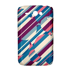 Blue and pink pattern HTC ChaCha / HTC Status Hardshell Case