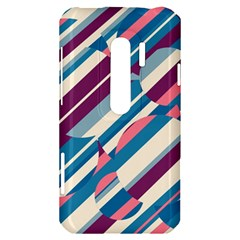 Blue and pink pattern HTC Evo 3D Hardshell Case