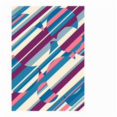 Blue and pink pattern Small Garden Flag (Two Sides)