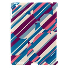 Blue and pink pattern Apple iPad 3/4 Hardshell Case (Compatible with Smart Cover)