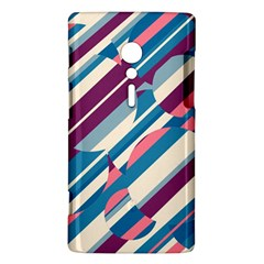 Blue and pink pattern Sony Xperia ion