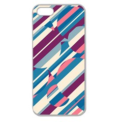 Blue and pink pattern Apple Seamless iPhone 5 Case (Clear)
