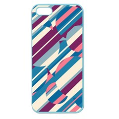 Blue and pink pattern Apple Seamless iPhone 5 Case (Color)