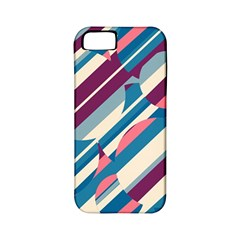 Blue and pink pattern Apple iPhone 5 Classic Hardshell Case (PC+Silicone)