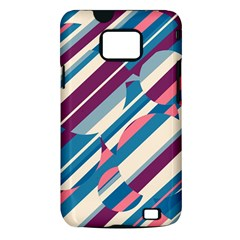 Blue and pink pattern Samsung Galaxy S II i9100 Hardshell Case (PC+Silicone)