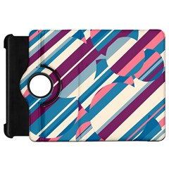Blue and pink pattern Kindle Fire HD Flip 360 Case