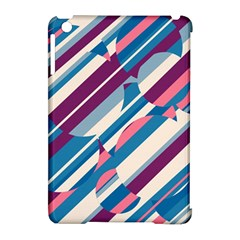 Blue and pink pattern Apple iPad Mini Hardshell Case (Compatible with Smart Cover)