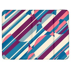 Blue and pink pattern Samsung Galaxy Tab 7  P1000 Flip Case