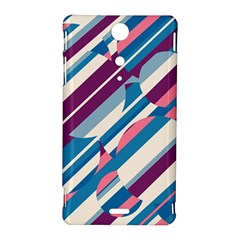 Blue and pink pattern Sony Xperia TX
