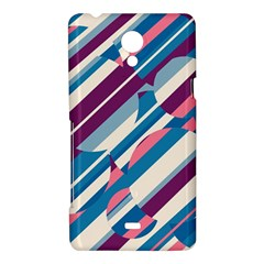 Blue and pink pattern Sony Xperia T