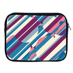Blue and pink pattern Apple iPad 2/3/4 Zipper Cases