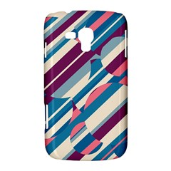 Blue and pink pattern Samsung Galaxy Duos I8262 Hardshell Case