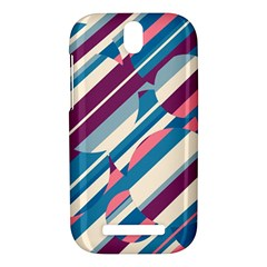 Blue and pink pattern HTC One SV Hardshell Case