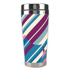 Blue and pink pattern Stainless Steel Travel Tumblers