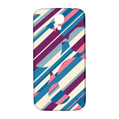 Blue and pink pattern Samsung Galaxy S4 I9500/I9505  Hardshell Back Case