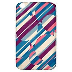 Blue and pink pattern Samsung Galaxy Tab 3 (8 ) T3100 Hardshell Case