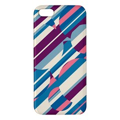 Blue and pink pattern iPhone 5S/ SE Premium Hardshell Case
