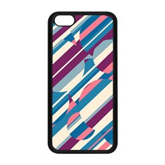 Blue and pink pattern Apple iPhone 5C Seamless Case (Black)